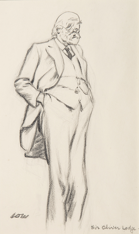 LOW David (1891-1963) - 'Sir Oliver Lodge'; the physicist (1851-1940).