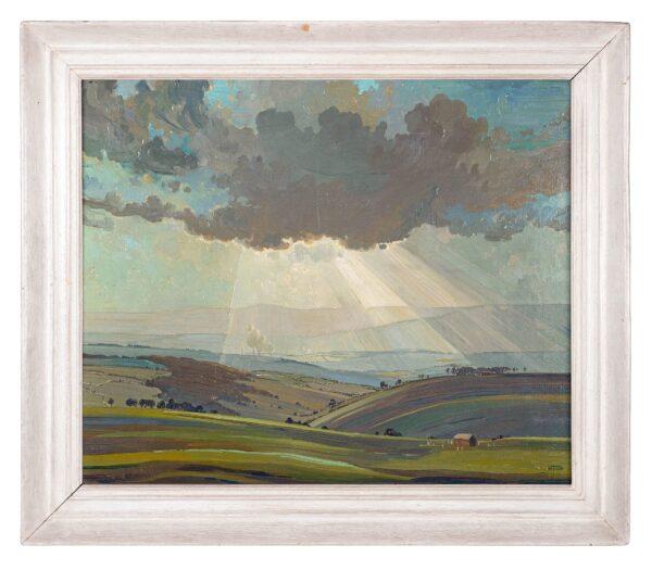 LOXTON KNIGHT Edward (1905-1993) - Storm Cloud and Sunlight.
