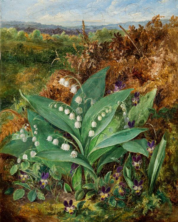 LUCAS Albert Durer (1828-1919) - Lilies of the Valley.