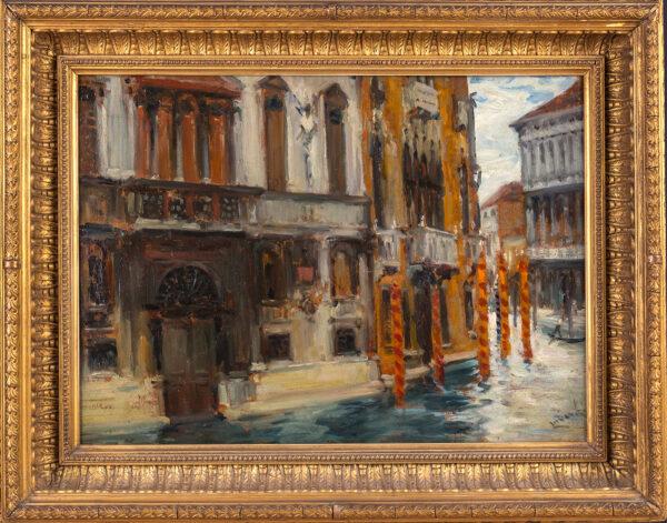 LUDOVICI Albert Jnr. R.B.A. (1852-1932) - Venice: a corner of the Grand Canal.