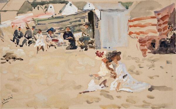LUDOVICI Albert (1852-1932) - Brittany: 'Coin de plage a Concarneau'.