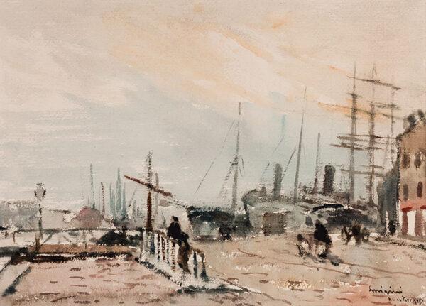 LUIGINI Ferdinand (1870-1943) - 'Dunkirk'.