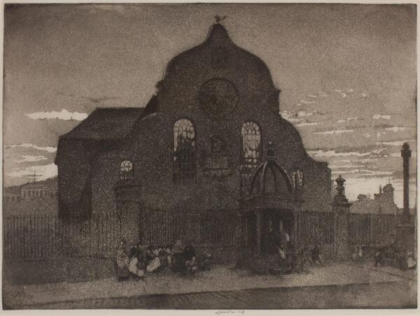 LUMSDEN Ernest R.S.A. (1883-1948) - Canongate Church, Edinburgh.