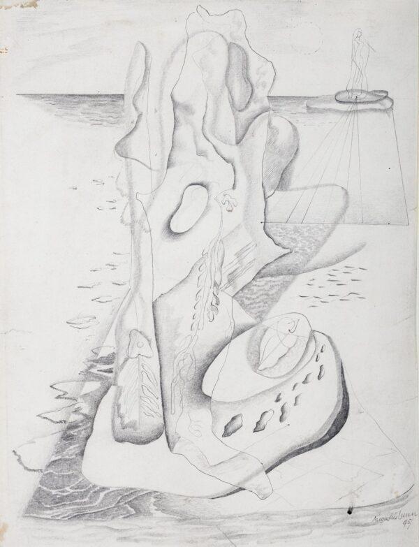 LUNN Augustus (1905-1986) - Surreal Composition.