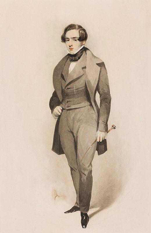 'MACDOUGALL (J.?)' Circa 1840. - Gentleman of the circle of Caroline Norton (Cf.
