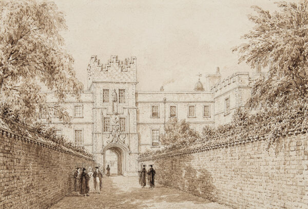 MACKENZIE Frederick (1788-1854) - Jesus College: the entrance gate.