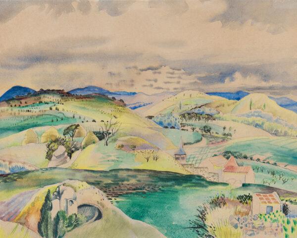 MACKINNON Sine (1901-1996) - Provencal landscape.