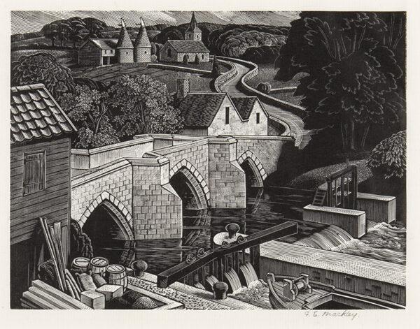 MACKLEY George E (1900-1983) - 'Kentish River'.