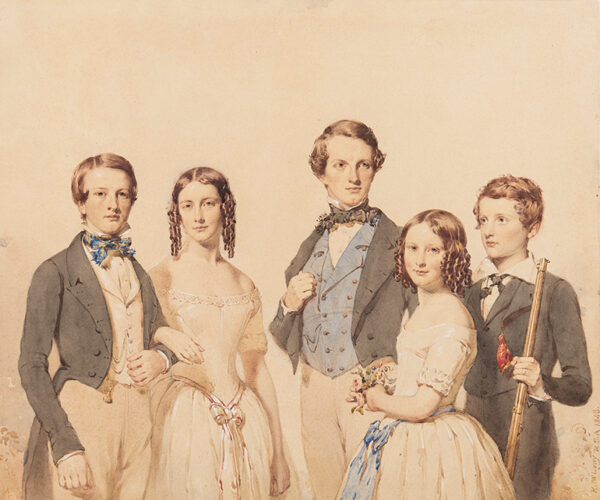 MACLEAY Kenneth R.S.A. (1802-1878) - Three brothers and their two sisters.