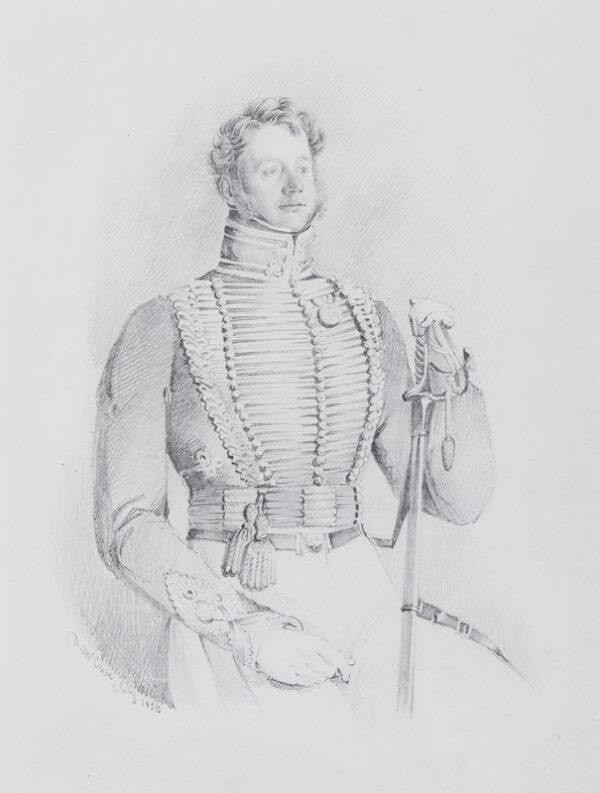 McCLISE Daniel R.A. (1806-1870) - Royal Horse Artillery Officer.