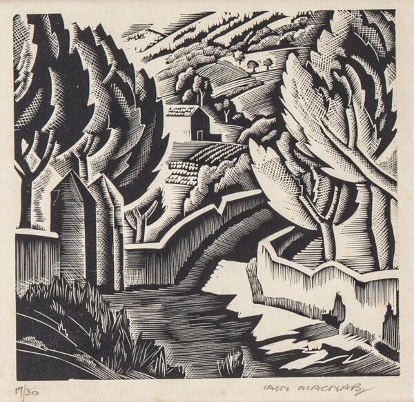 MACNAB Iain R.E. (1890-1967) - 'Landscape near Cassis'.