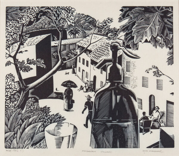 MACNAB Iain R.E. (1890-1967) - 'Majorcan Village'.