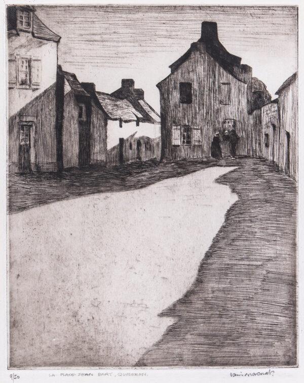 MACNAB Iain (1890-1967) - 'La Place Jean Bart, Quiberon'.