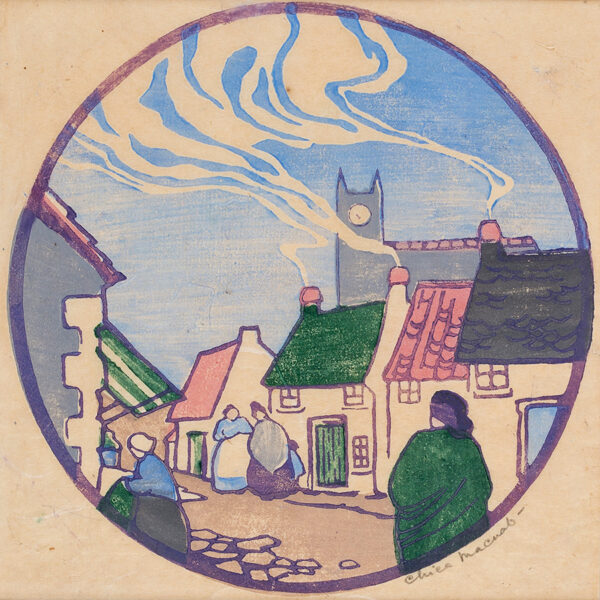MACNAB Chica (1889-1960) - Village street.