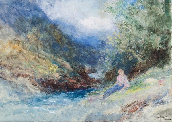 MACWHIRTER John R.A. (1839-1911) - 'Glen Sannox, Isle of Arran'.