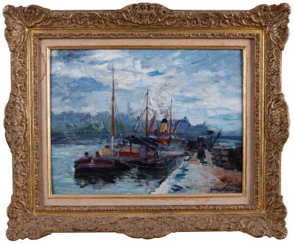 MADELAIN Gustave (1867-1944) - 'Sur le Quai', Paris.