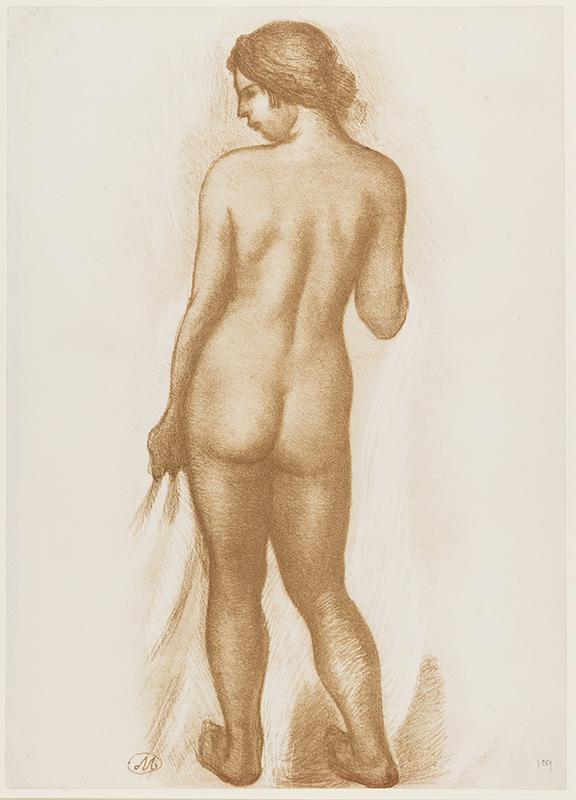 MAILLOL Aristide (1861-1944) - Standing Nude.