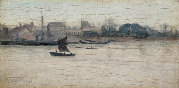 MAITLAND Paul (1863-1909) - The Thames, 'Battersea Reach'.