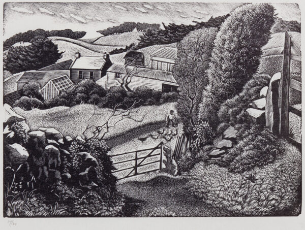 MALET Guy Seymour Warre (1900-1973) - The Farm, possibly on Sark.