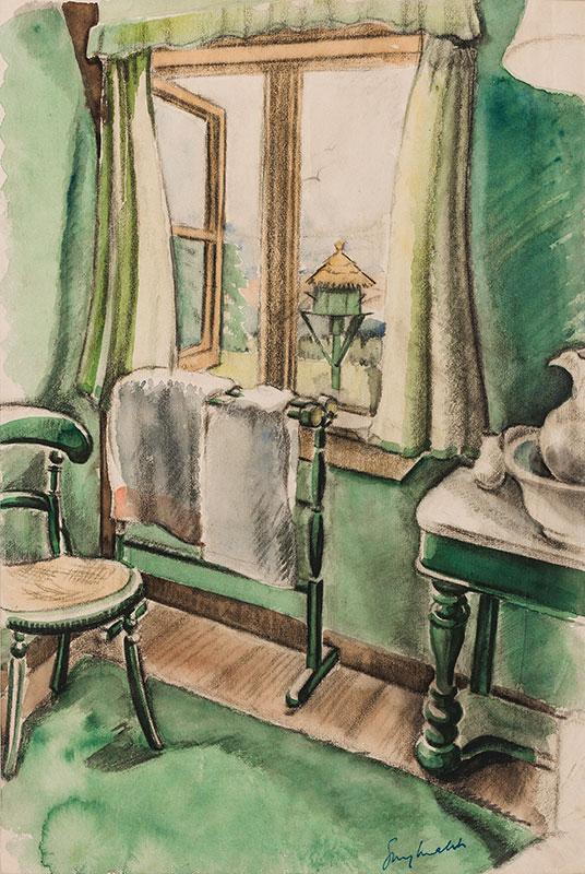 MALET Guy Seymour Warre (1900-1973) - Interior.