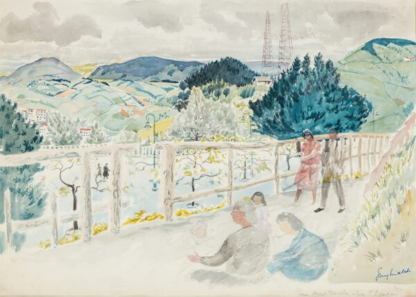 MALET Guy Seymour Warre (1900-1973) - Spain: 'From Mont Igueldo, San Sebastian'.