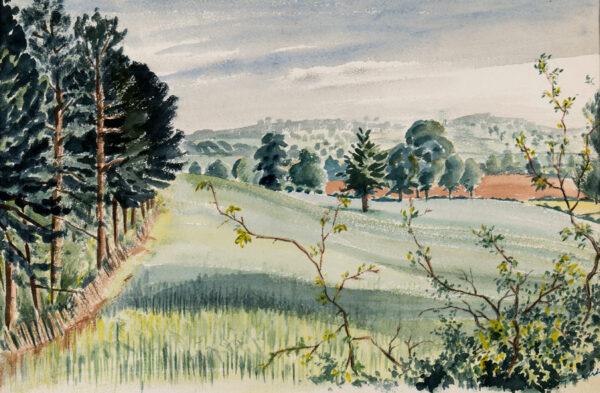 MALET Guy Seymour Warre (1900-1973) - Landscape near Leamington Spa.