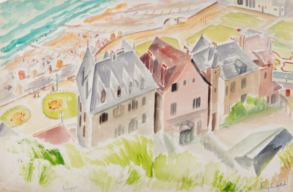 MALET Guy Seymour Warre (1900-1973) - 'Dieppe'; the Front from the Castle.