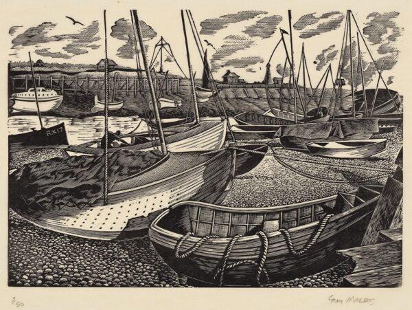 MALET Guy Seymour Warre (1900-1973) - Rye Harbour.