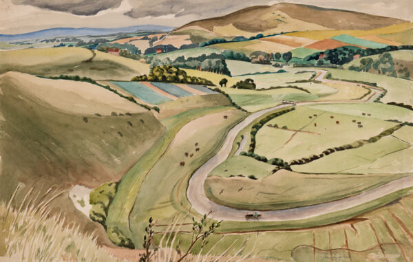MALET Guy Seymour Warre (1900-1973) - High and Over', the Cuckmere Valley, Sussex.