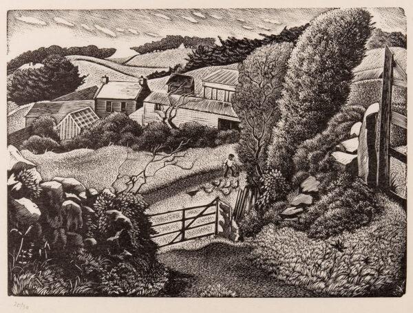 MALET Guy Seymour Warre (1900-1973) - Farm, possibly on Sark.