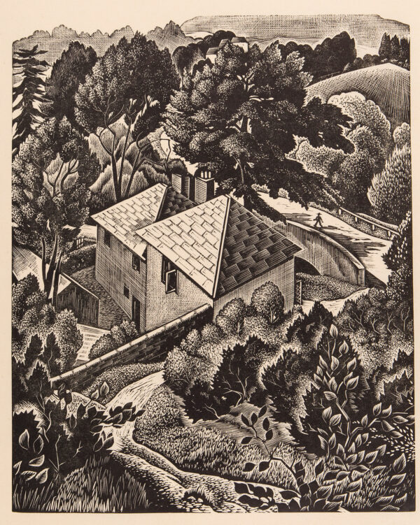 MALET Guy Seymour Warre (1900-1973) - Roofs and trees.