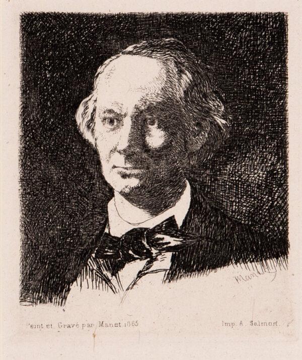 MANET Edouard (1832-1883) - 'Portrait Charles Baudelaire, de face' (Harris.