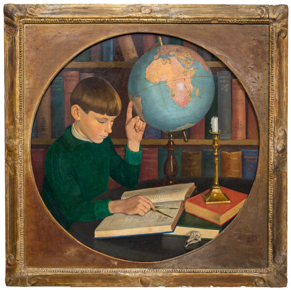 MANNING-SANDERS Joan (1913-2002) - 'David and the Globe': the artist's brother.