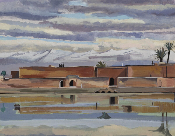 MANOUSSO Paul (b.1930) - 'Ruined Palace in Agdal Gardens, Marrakech'.