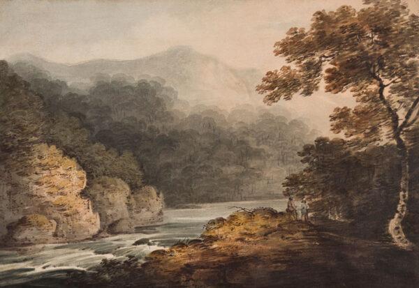 MANSKIRCH Franz Joseph (1770-1827) - View, possibly on the River Wye.