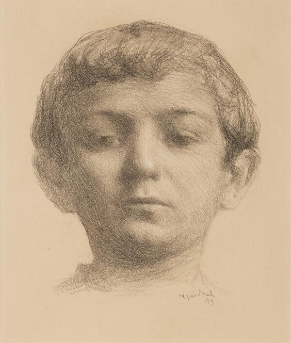 MARCHAL Julian (1878-1950) - Study of a boy's head.
