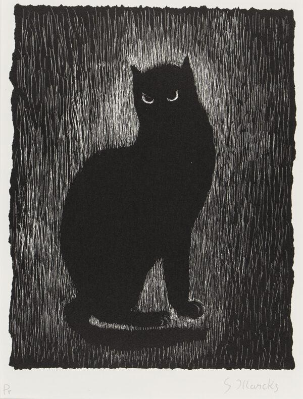 MARCKS Gerhardt (1889-1981) - 'Die Katze von Aigina'.