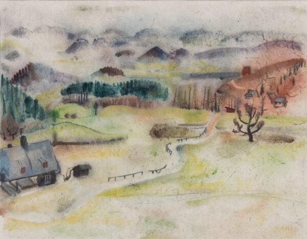 MARKS Grete Heymann Loebenstein (1899-1990) - 'North German landscape III'.
