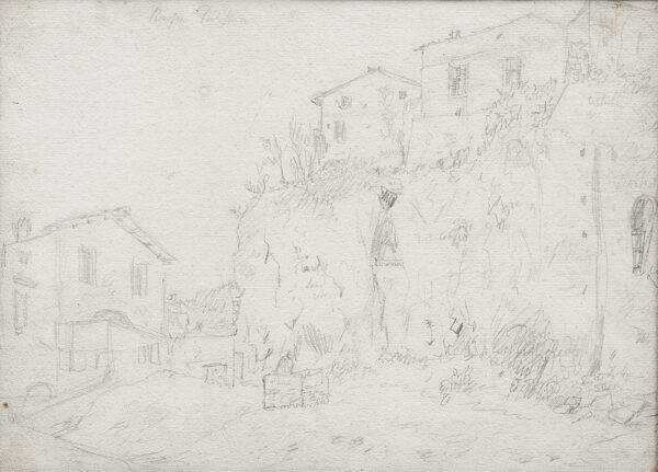 MARLOW William (1740-1813) - 'Rufa Tarpeia': Rome, the Tarpeian Rock Pencil.