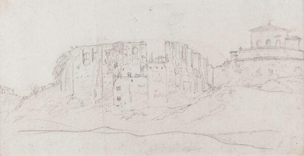 MARLOW William (1740-1813) - 'Tempio di Baccio fuori la Porta Pia'.
