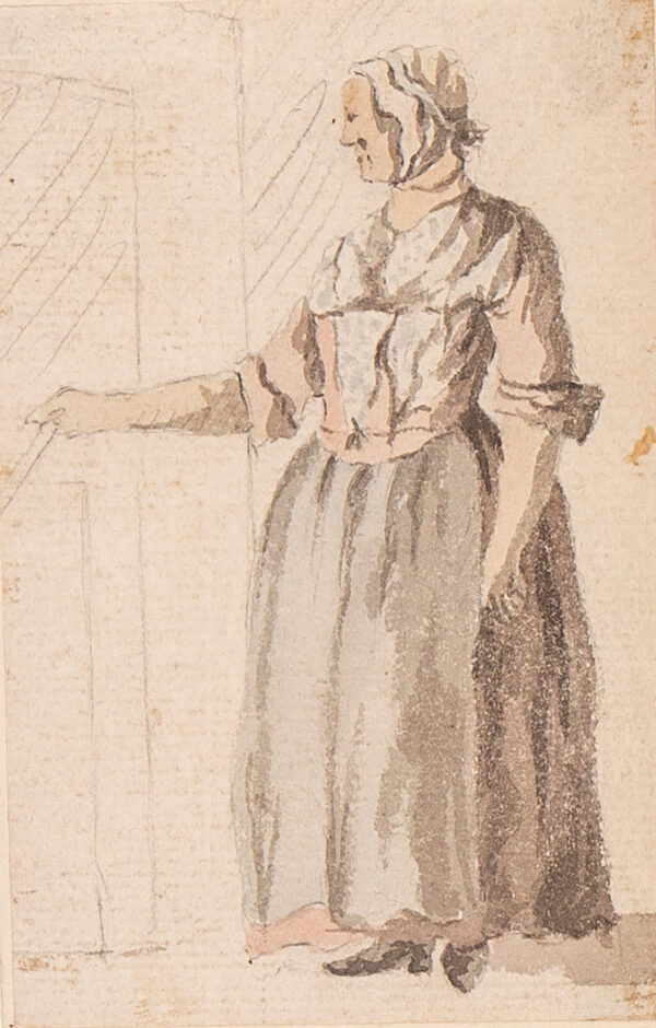 MARLOW William (1740-1813) - Study of an old woman.