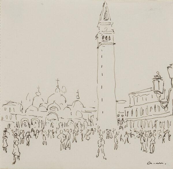 MARQUET Albert (1875-1947) - Venice: Piazza San Marco.
