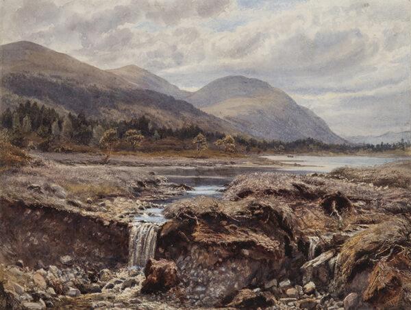 MARTINEAU Gertrude (1840-1924) - 'Loch Gaun, near Aviemore'.