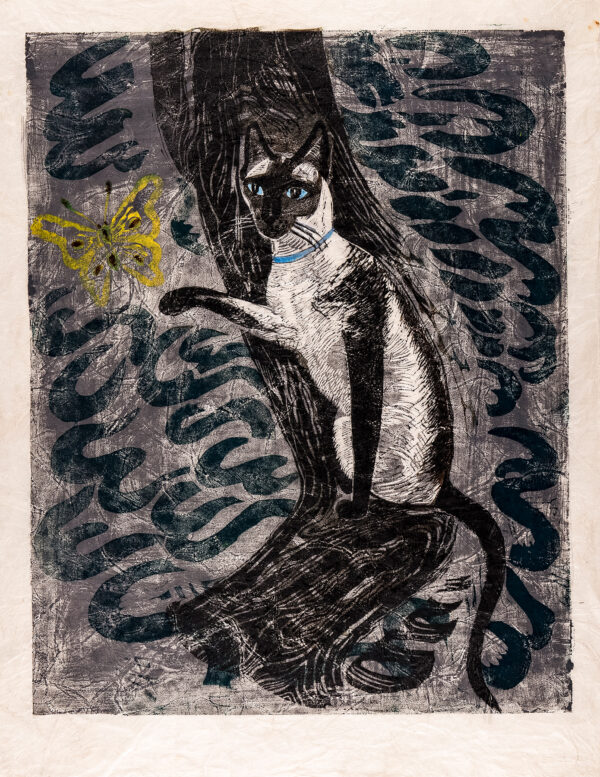 MARX Enid R.D.I (1902-1998) - 'Cat and Butterfly'.