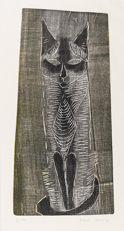 MARX Enid F.R.S.A. (1902-1998) - 'Cat'.