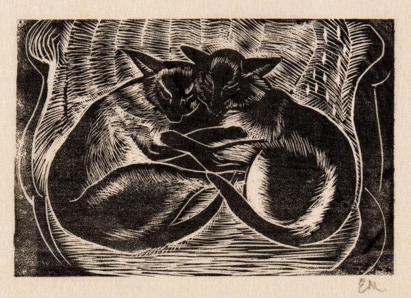 MARX Enid R.D.I. (1902-1998) - Siamese cats.