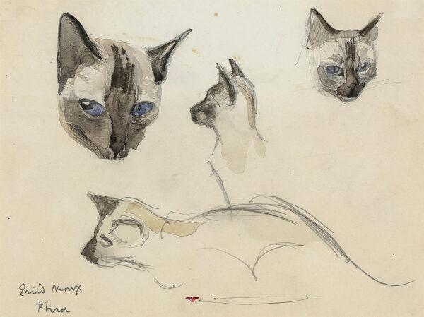 MARX Enid R.D.I. (1902-1998) - 'Siamese Cat'.