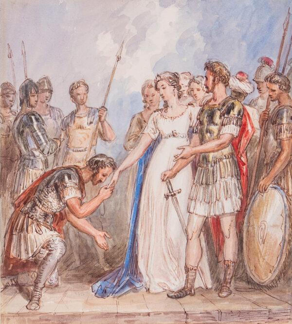MASEY WRIGHT John O.W.S (1777-1866) - 'Anthony and Cleopatra'.