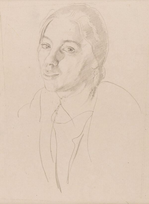 MASON Arnold R.A. (1885-1963) - Portrait study of Winifred Knights (1899-1947) Pencil.