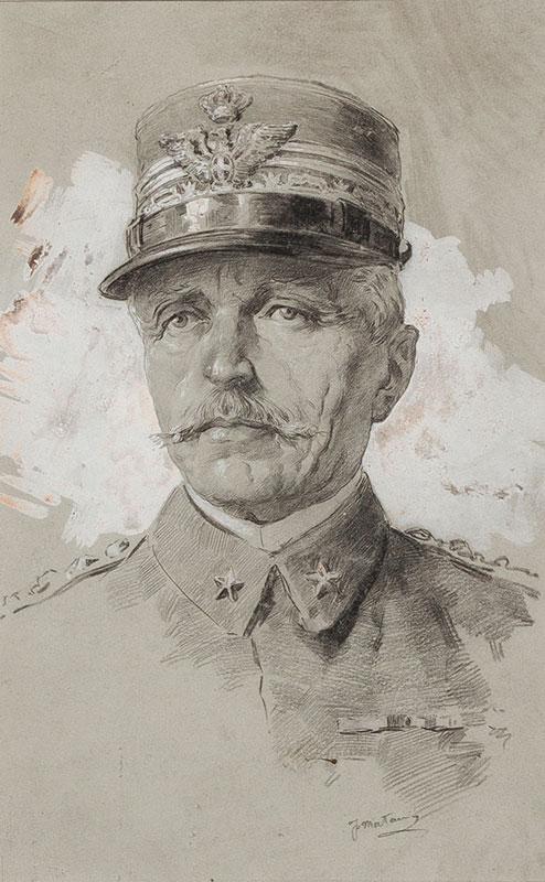 MATANIA Fortunino (1881-1963) - General Count Luigi Cadorna (1850-1928), Commander-In-Chief of the Italian Army.